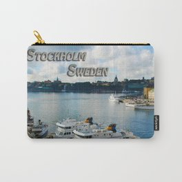Stockholm Sweden Waterfront Travel Carry-All Pouch