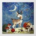 Autumn Woodland Friends Deer Forest Illustration by betterhome
