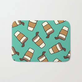 Take it Away Coffee Pattern Bath Mat