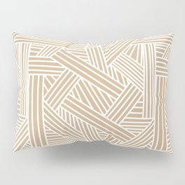Sketchy Abstract (White & Tan Pattern) Pillow Sham