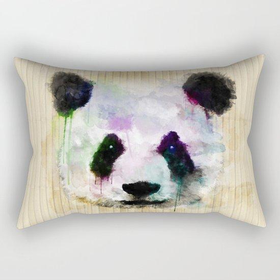 Panda Face - Watercolor Rectangular Pillow