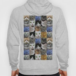 Cat Face Collage Hoody