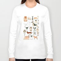 dogs Long Sleeve T-shirts featuring Dogs by Rebecca Bennett