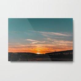 Sunset in Park Metal Print