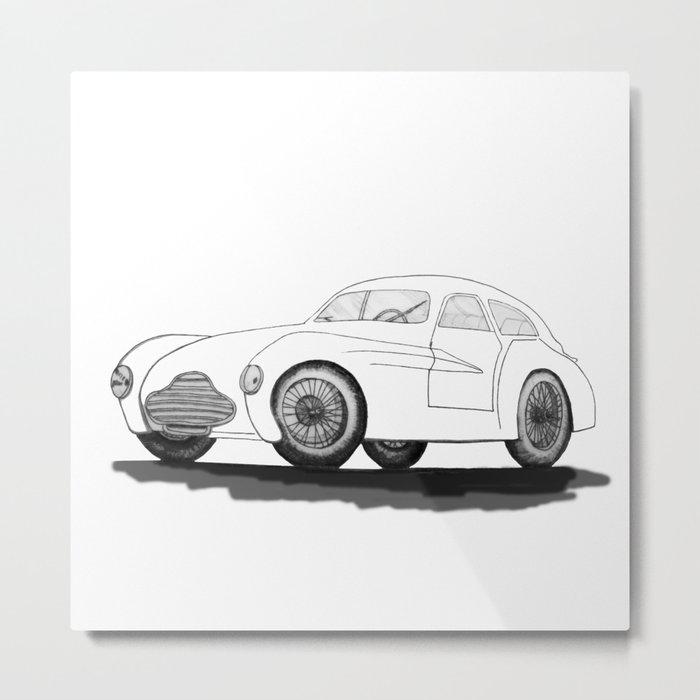 retro car on white background Metal Print