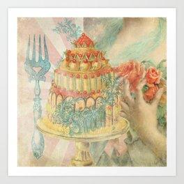 Let Them Eat Cake Art Print