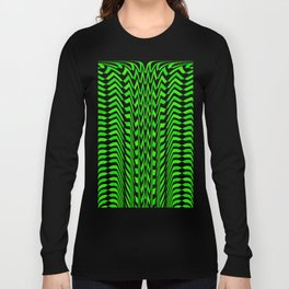 Skewed Green Arrows Long Sleeve T-shirt