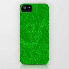 Neon Green Alien DNA Plasma Swirl iPhone Case