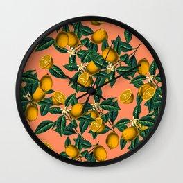 Lemon and Leaf Wall Clock