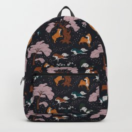 Cherry Blossom and Dog Dance Backpack