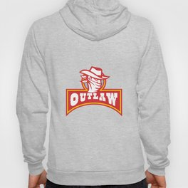 Bandit With Outlaw Text Retro Hoody