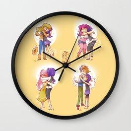 The Art of Hugging Wall Clock