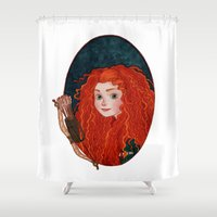 merida Shower Curtains featuring Merida from Brave by Naineuh