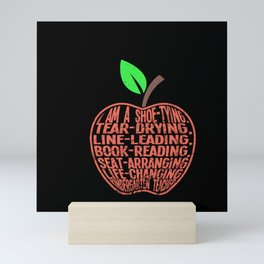 Teachers - Duties Of A Kids Teacher Mini Art Print
