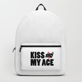 Kiss My Ace | Poker Player Gamble Gift Idea Backpack