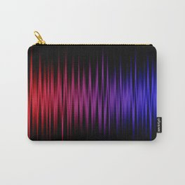 Colorful lines on black background Carry-All Pouch