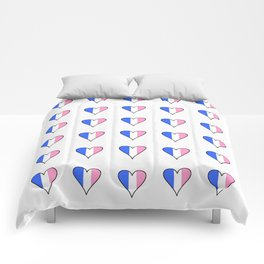 Parody of the french flag 3-France,Paris, pink, Marseille, lyon, Bordeaux,love, girly,fun,idyll,Nice Comforters