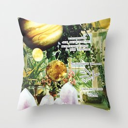 CRYSTAL PLANETS Throw Pillow