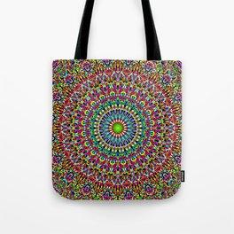 Happy Garden Mandala Tote Bag