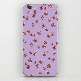 Peppermint Candy in Purple iPhone Skin