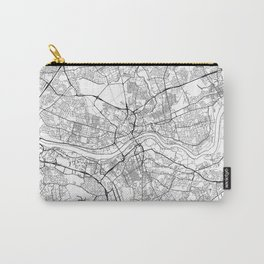 Newcastle Upon Tyne Map White Carry-All Pouch