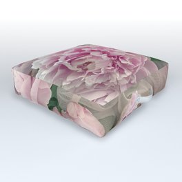 Shabby Chic Pastel Pink Peonies Wall Art - Peonies Home Decor Outdoor Floor Cushion