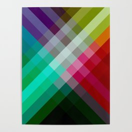 Rainbow 3 color Poster