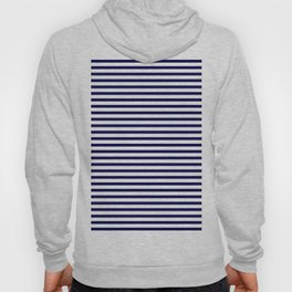 Navy Blue & White Maritime Small Stripes - Mix & Match with Simplicity of Life Hoody