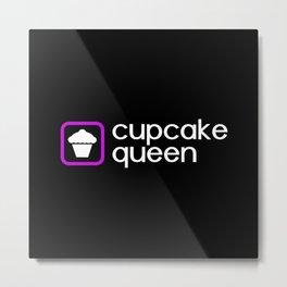 Cupcake Queen (Purple) Metal Print