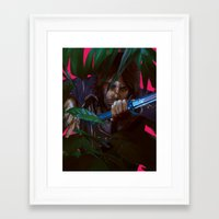 dishonored Framed Art Prints featuring you cannot save her by VPUVWV