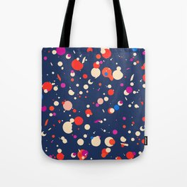 Spotty in blue Tote Bag