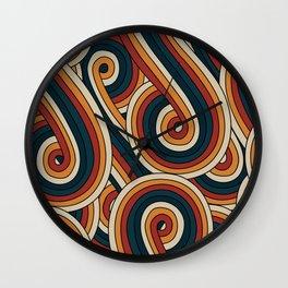 Vintage Doodle Swirls Wall Clock