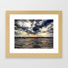 Sunset on the Water Framed Art Print