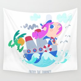 Enjoy the journey Wall Tapestry