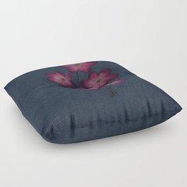 Burgon Wildflower  Lineart Grunge Bohemean Romance  Floor Pillow