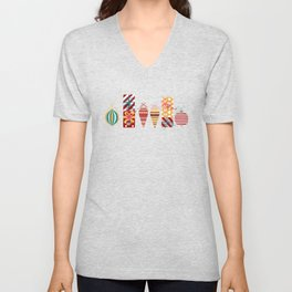 Christmas Ornaments and Presents Pattern Unisex V-Neck