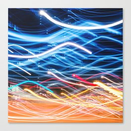 abstract light trail  Canvas Print