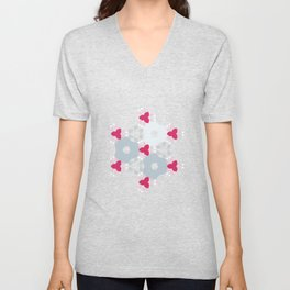 Kaleidoscope Flowers Winterday Unisex V-Neck