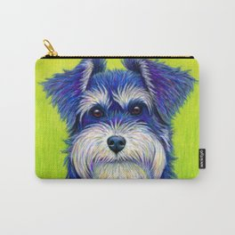 Colorful Miniature Schnauzer Dog Pet Portrait Carry-All Pouch