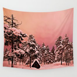 Magic of frozen forest Wall Tapestry