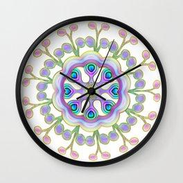 Moon Flower Mandala Wall Clock