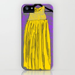Yellow Doll Dress iPhone Case