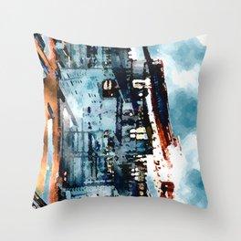 Blue Gray Day Throw Pillow