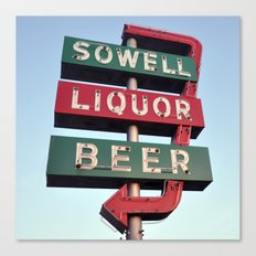 Sowell Beer and Liquor (Square) Canvas Print