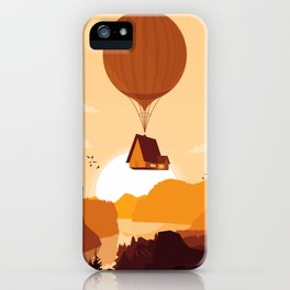 Flying House iPhone Case
