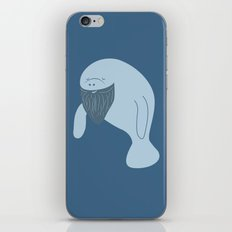 Silly Bearded Manatee iPhone & iPod Skin