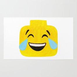 Tears of Joy - Emoji Minifigure Painting Rug