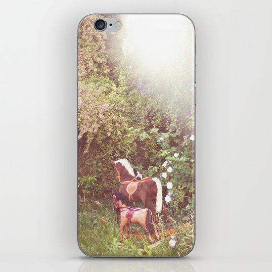 Three little rocking horses iPhone & iPod Skin