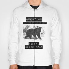 false. black bear Hoody