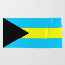 bahamas country flag Beach Towel